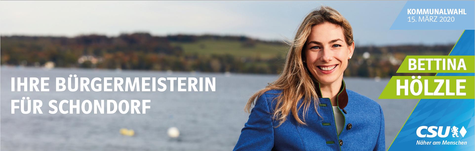 Bettina Hölzle - Fraktionsvorsitzende der CSU Schondorf am Ammerseee